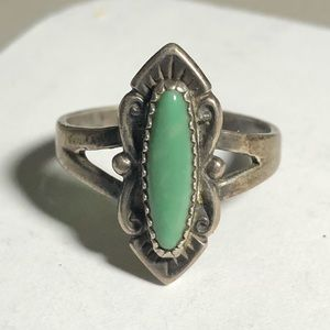 Bell Trading Sterling Green Turquoise ring Sz 8.25